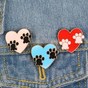Cat Paw Pin Dog Paw Set of 3 Brand New